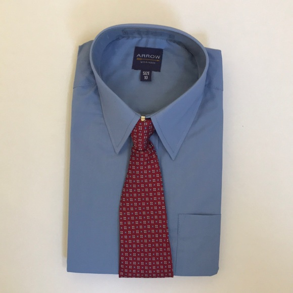 b51fa86572de1a Arrow Shirts & Tops | Boys Long Sleeve Dress Shirt Tie Set | Poshmark